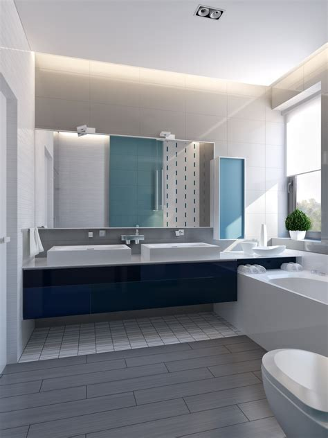 gray and blue bathroom ideas modern vibrant blue bathroom 1 interior design ideas