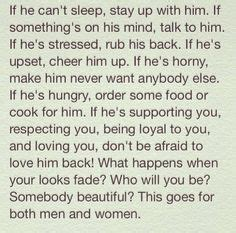 ladies take care of your man quotes