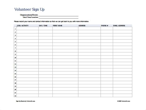 sign  sheet template   samples examples format