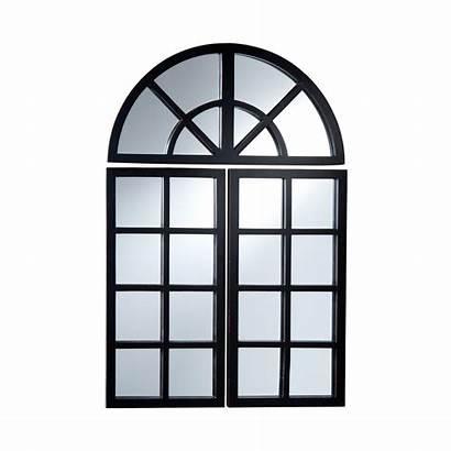 Mirror Pane Mirrors Window Windowpane Arched Piece
