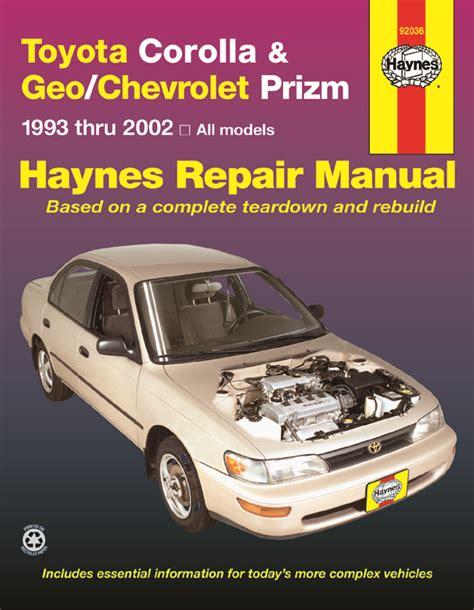 free car manuals to download 1997 geo prizm regenerative braking geo prizm 1993 1997 car repair manuals haynes manuals