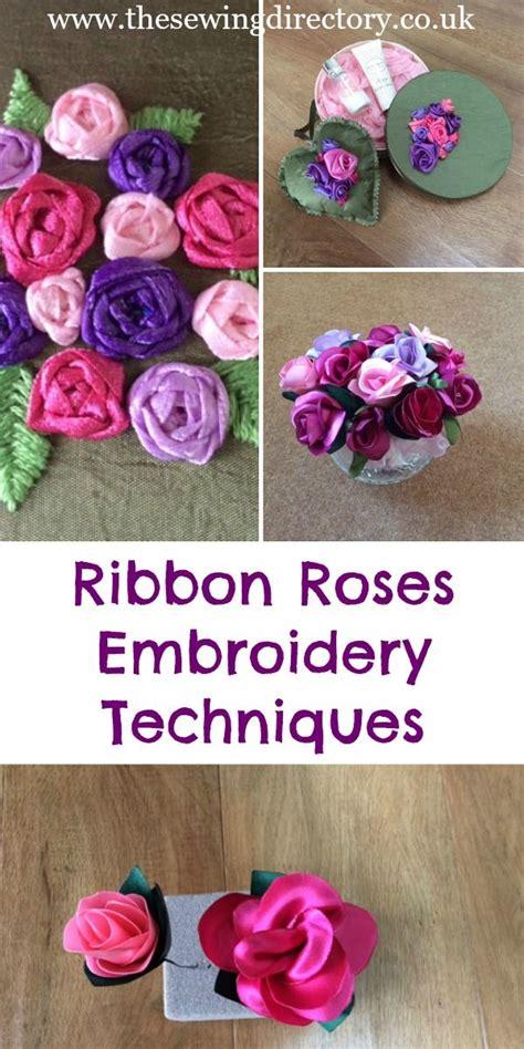 techniques    stitch  types  ribbon roses