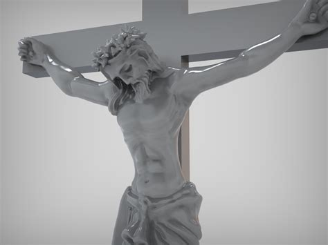 Jesus Crucifix Is Ready For Prototyping Stl 3d Model 3d