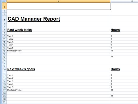 weekly job report template weekly project