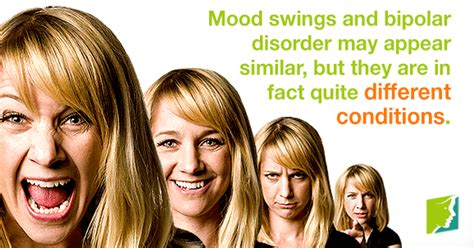 bipolar disorder  mood swings  difference