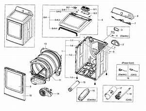 Samsung Dryer Model Dv40j3000ew A2 Parts Manual