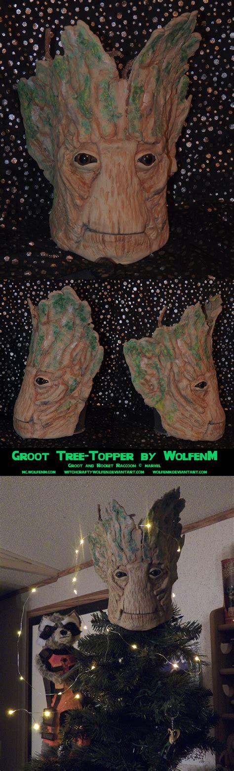 custom guardians of galaxy tree topper turns christmas