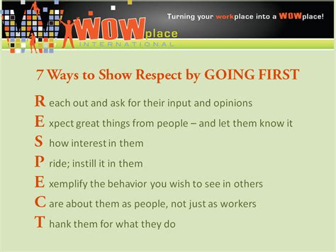 7 Ways To Show Respect
