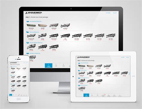 Legend Boats Application by Constructor Application Legend Boats Builder On Behance