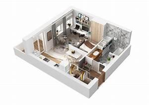 Aménagement Petit Appartement : am nagement et d coration d 39 un appartement de 40m2 picslovin ~ Nature-et-papiers.com Idées de Décoration