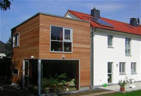 holzanbau energetische sanierung eines reihenhauses