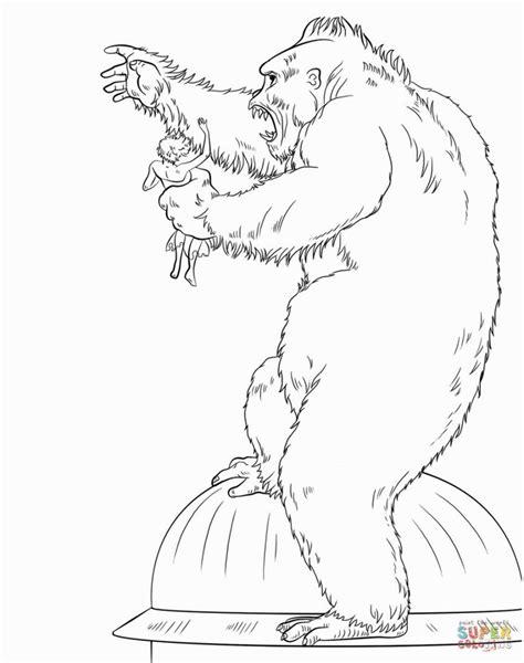 king kong coloring pages king kong drawing tutorial