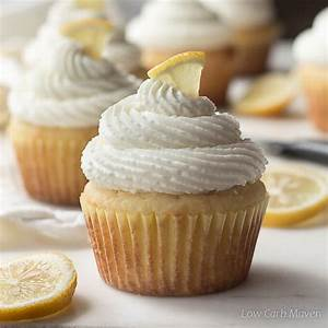 Sugar-free Lemon Cupcakes With Cream Cheese Frosting | Low ...