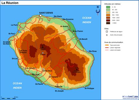 La Réunion Carte Géographique Monde by La R 233 Union Carte Touristique Voyages Cartes