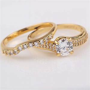 engagement rings 24k yellow gold filled womens mens ring With mens 24k gold wedding ring