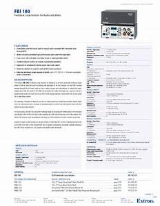 Feedback Loop Isolator Fbi 100 Manuals