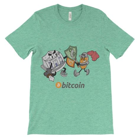 Protecting the innocent against fear, uncertainty, and doubt. Bitcoin Knight vs Bank Decentralize T-Shirt Colorful ...