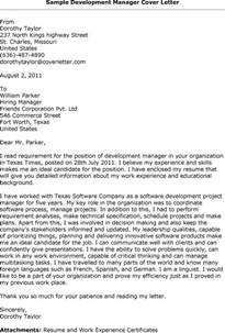 sle of cover letter for application cover