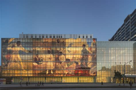 Harlem Hospital Glass Mural by Glass Curtain Wall Digital Printed In A Hospital