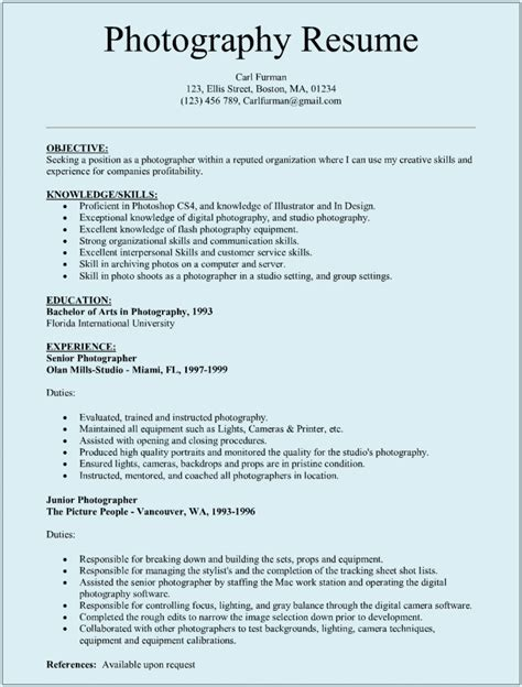 how to make cv resume samples photographer resume sample sample resumes