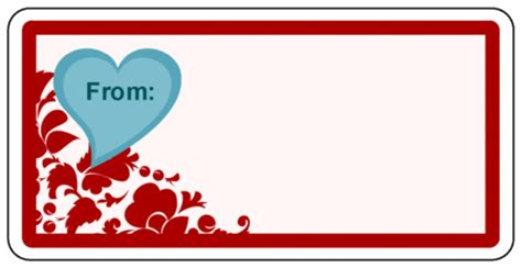 valentines day  gift label  heart label