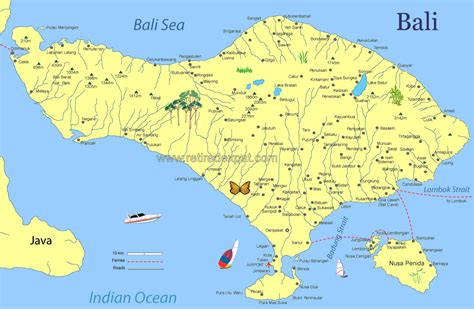 bali attractions map bali indonesia holiday