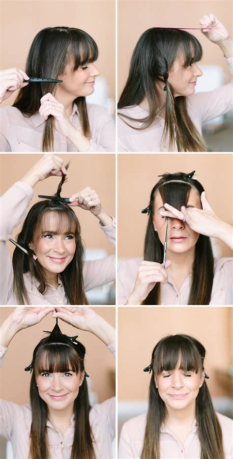 how to style hair without bangs how to trim your own bangs camille styles