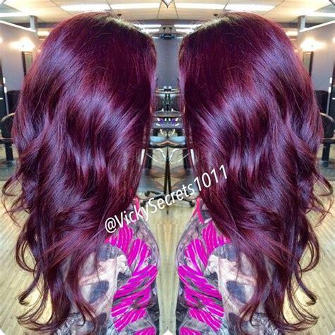 rock  hair  deep purple color  haircut web