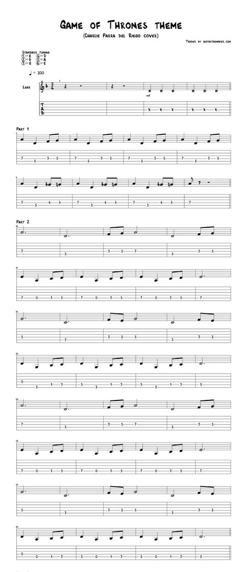 Veteran guitarist and author tom kolb dispels the mysteries of music theory using plain and simple terms and diagrams. Game of Thrones theme guitar tabs acoustic - pdf acoustic guitar sheet music download - guitar ...