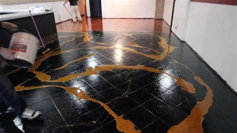 designer metallic epoxy installation  ceramic tile youtube