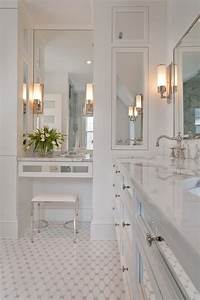 Contemporary Makeup Vanity Bathroom Traditional with