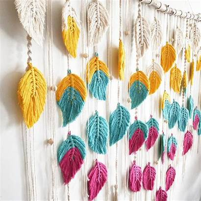 Macrame Feather Tutorial Hanging Wall Feathers Patterns