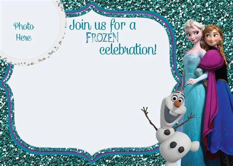 printable frozen  birthday invitations party