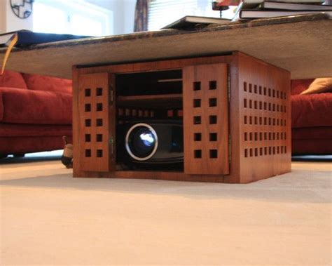 concealed front projector   coffee table