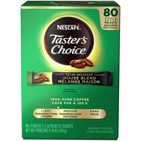 There is obviously a real talent to making a really these packets are extremely convenient to carry since they are small individual packets. Nescafé Taster's Coffee Instant Decaf Choice 80-0.059 oz. Packets
