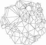 Crystal Line Drawing Zentangle Result sketch template