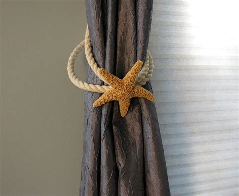 Beach Decor Starfish Tie Back For Curtains