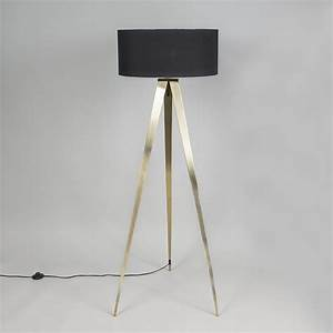 floor lamp tripod tripe brass with black shade With brass tripod floor lamp uk
