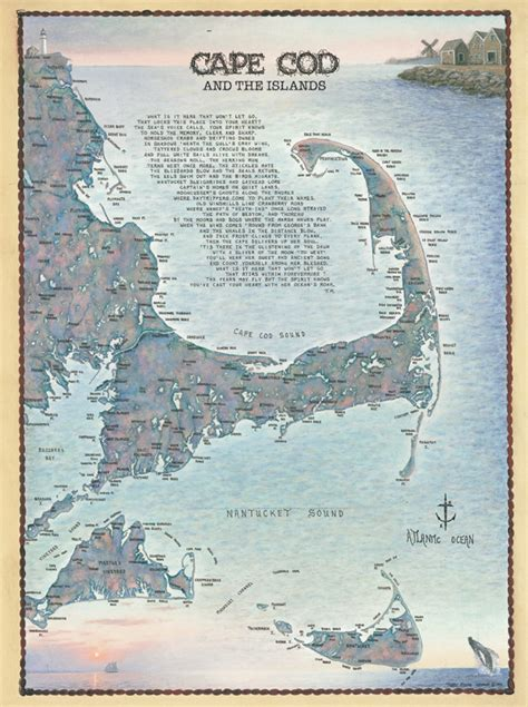 Cape Cod And The Island Waterways Puzzle  Jigsaw Puzzles