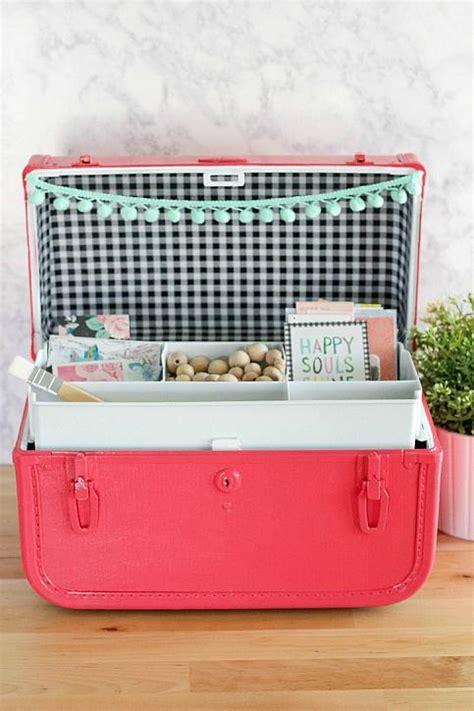 decoart blog crafts repurposed vintage suitcase