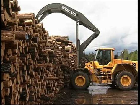 volvo wheel loader lf high lift features youtube