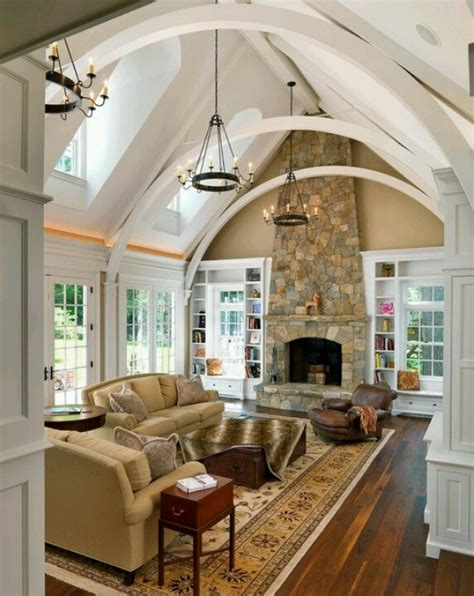 vaulted great room house plans pinterest