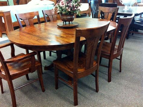 oval solid wood dining table dining room ideas