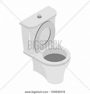 Toilet Bowl On White Background. Ws Accessories Isolated ...