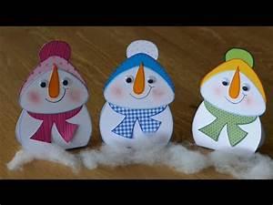 Weihnachtsmann Basteln Aus Pappe : schneemann basteln aus papier basteln mit kinden youtube ~ Haus.voiturepedia.club Haus und Dekorationen
