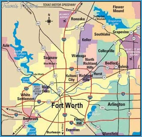 fort worth map tourist attractions travelsfinders com