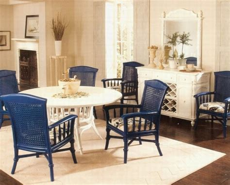 blue dining room chairs for bold interior dining