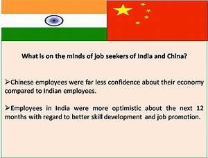 China Vs India: Indian employees more confident about the ...