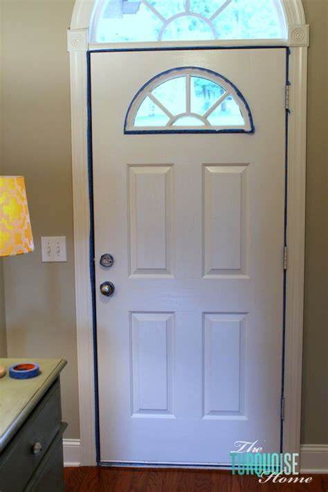painting inside of front door how to paint an interior door hale navy the turquoise home