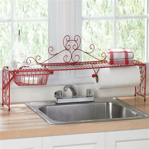 euro home over the sink organizer steel scrolling over the sink shelf for the home pinterest